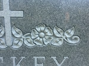 Shaped Carving Example in Grey Granite