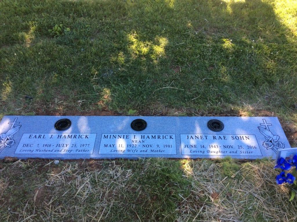 Multiple Flat Marker Memorial Inspiration